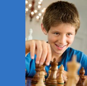 jongen schaak
