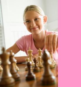 meisje schaak